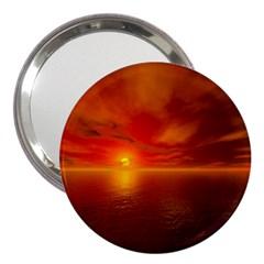 Sunset 3  Handbag Mirror by Siebenhuehner