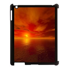 Sunset Apple Ipad 3/4 Case (black) by Siebenhuehner