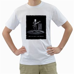 Art Is Just Like Music Mens  T Shirt (white) by Contest1761904