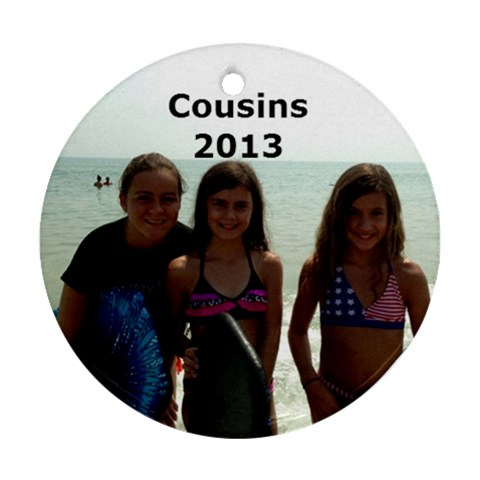 Cousins Ornament By Kathleen    Ornament (round)   Pa7eyibtoap9   Www Artscow Com Front
