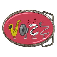 Jazz Belt Buckle (oval) by PaolAllen