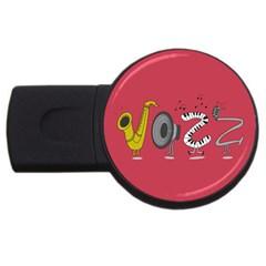 Jazz 4gb Usb Flash Drive (round) by PaolAllen