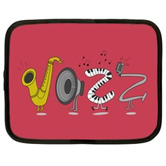 Jazz Netbook Case (large) by PaolAllen