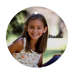 Maddie By Sharon Thomas   Round Ornament (two Sides)   8nn93cj4ry4w   Www Artscow Com Back