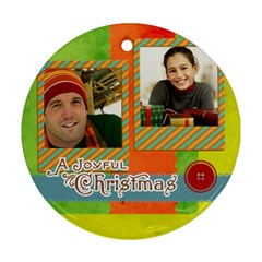 Merry Christmas By Merry Christmas   Round Ornament (two Sides)   1zyow53mkyjs   Www Artscow Com Back
