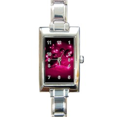 Sweet Dreams  Rectangular Italian Charm Watch by Siebenhuehner