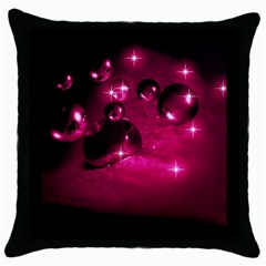 Sweet Dreams  Black Throw Pillow Case by Siebenhuehner