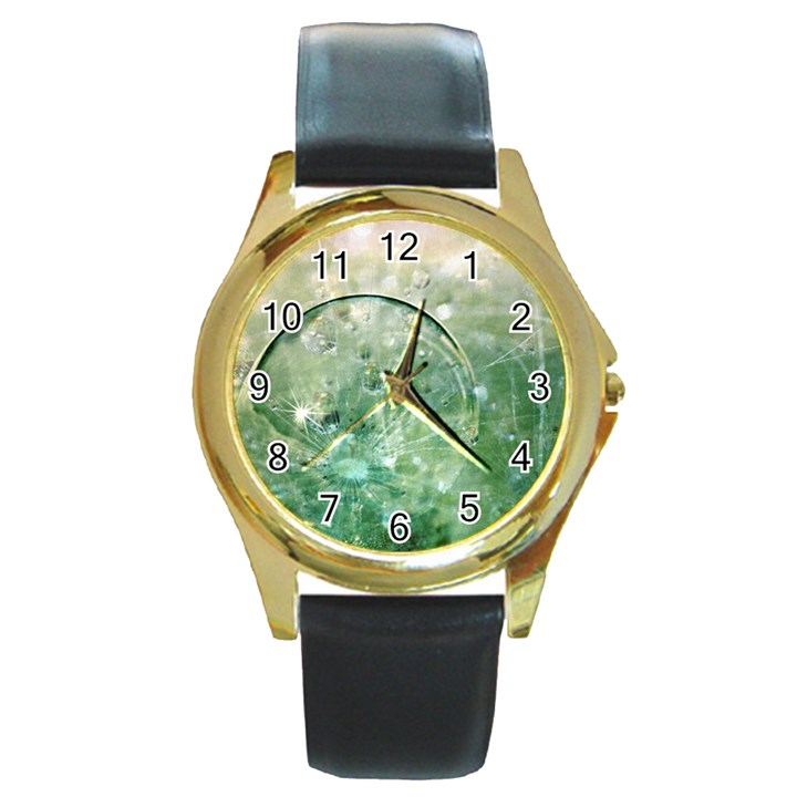 Dreamland Round Metal Watch (Gold Rim)