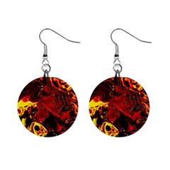 Fire Mini Button Earrings