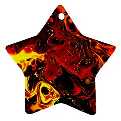 Fire Star Ornament (two Sides) by Siebenhuehner