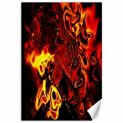 Fire Canvas 12  X 18  (unframed) by Siebenhuehner