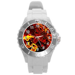 Fire Plastic Sport Watch (large) by Siebenhuehner