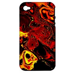 Fire Apple Iphone 4/4s Hardshell Case (pc+silicone) by Siebenhuehner