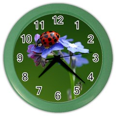 Good Luck Wall Clock (color) by Siebenhuehner