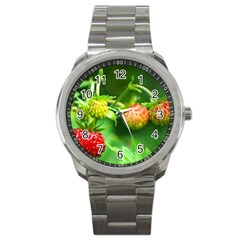 Strawberry  Sport Metal Watch by Siebenhuehner