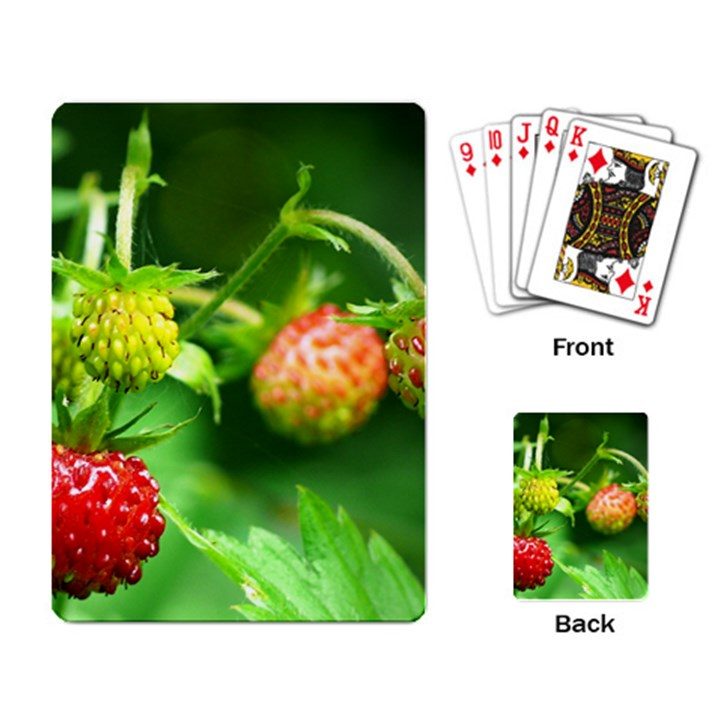 Strawberry  Playing Cards Single Design