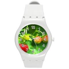 Strawberry  Plastic Sport Watch (medium) by Siebenhuehner