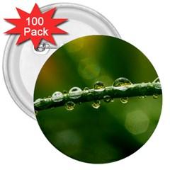 Waterdrops 3  Button (100 Pack) by Siebenhuehner
