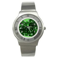 Waterdrops Stainless Steel Watch (unisex) by Siebenhuehner