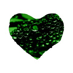 Waterdrops 16  Premium Heart Shape Cushion  by Siebenhuehner