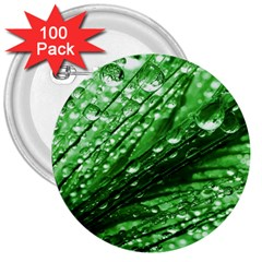 Waterdrops 3  Button (100 Pack) by Siebenhuehner
