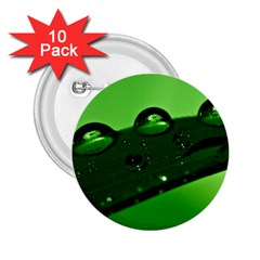 Waterdrops 2.25  Button (10 pack) by Siebenhuehner
