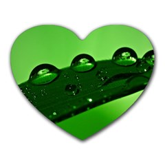 Waterdrops Mouse Pad (heart) by Siebenhuehner