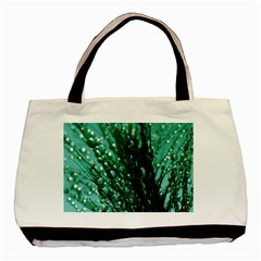 Waterdrops Twin Sided Black Tote Bag by Siebenhuehner
