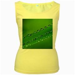 Waterdrops Womens  Tank Top (yellow) by Siebenhuehner