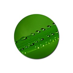 Waterdrops Drink Coaster (round) by Siebenhuehner