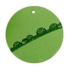 Waterdrops Round Ornament (two Sides) by Siebenhuehner
