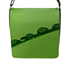 Waterdrops Flap Closure Messenger Bag (large) by Siebenhuehner