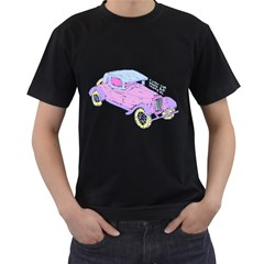 If Classic Car Wanna Be Colorful Mens' T Shirt (black)