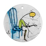 olp sit stick man Ornament (Round)