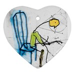 olp sit stick man Ornament (Heart)