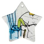 olp sit stick man Ornament (Star)