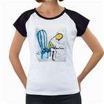 olp sit stick man Women s Cap Sleeve T