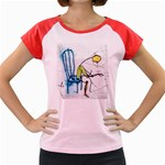 olp sit stick man Women s Cap Sleeve T-Shirt
