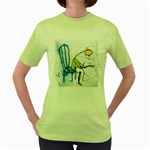 olp sit stick man Women s Green T-Shirt