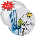 olp sit stick man 3  Button (10 pack)