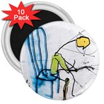 olp sit stick man 3  Magnet (10 pack)