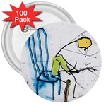 olp sit stick man 3  Button (100 pack)