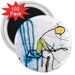 olp sit stick man 3  Magnet (100 pack)