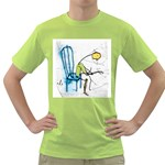 olp sit stick man Green T-Shirt