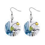 olp sit stick man 1  Button Earrings