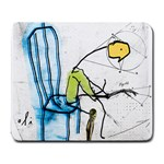 olp sit stick man Large Mousepad