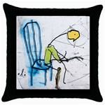 olp sit stick man Throw Pillow Case (Black)