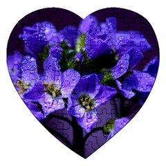 Cuckoo Flower Jigsaw Puzzle (heart) by Siebenhuehner