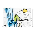 olp sit stick man Magnet (Rectangular)