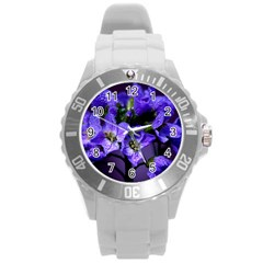 Cuckoo Flower Plastic Sport Watch (large) by Siebenhuehner